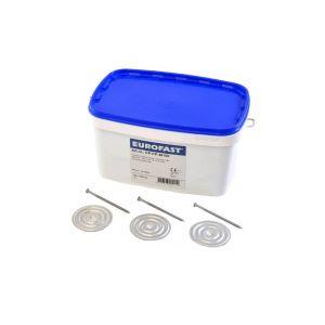 Combinatiepakket eds-h 5,0x60mm + dvp rond 70 inhoud doos: 250 stuks (40mm isolatie)